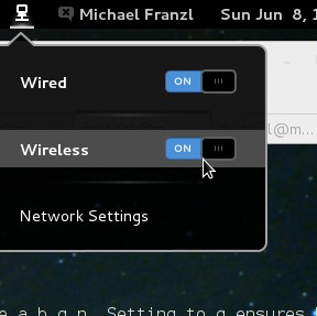 gnome network manager wlan
