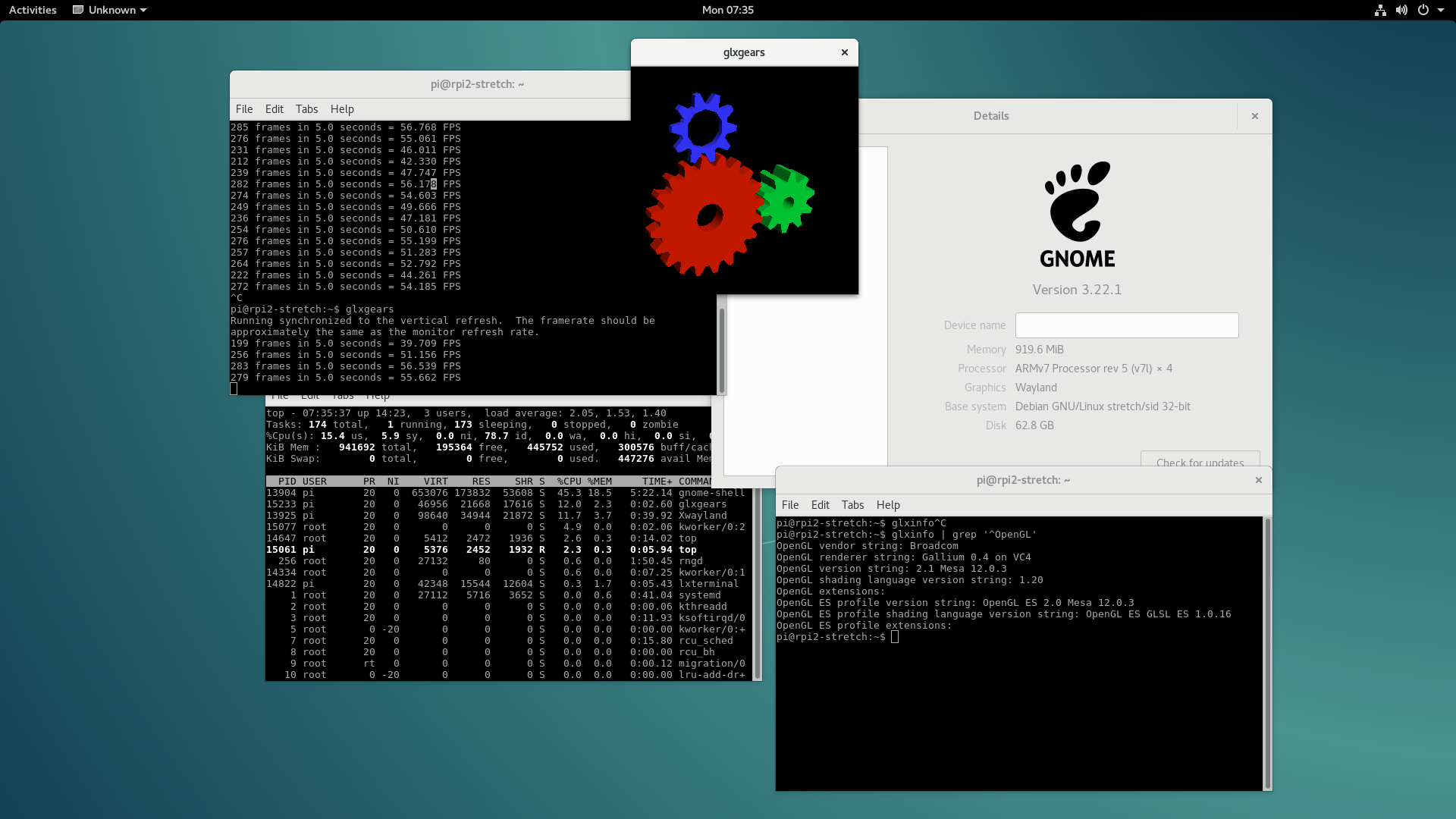 Raspberry Pi2 And Pi3 Running Pure Debian And The Linux Mainline Vanilla Kernel Michael Franzl